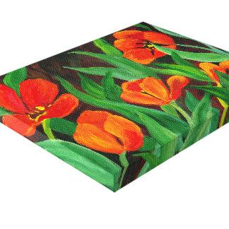 Canvas vermelhas das tulipas