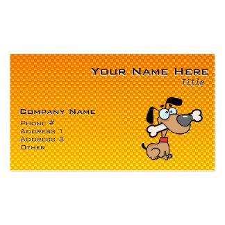 Cão amarelo alaranjado dos desenhos animados cartão de visita