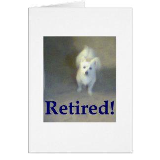 Cão aposentado cartao