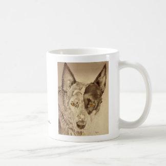 Cão australiano azul do gado de Heeler Caneca De Café