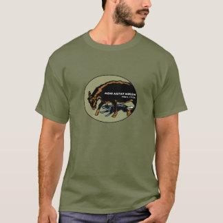 Cão australiano do gado - a mente move a matéria camiseta