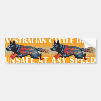 Cão australiano do gado - inseguro em alguma veloc adesivo para carro