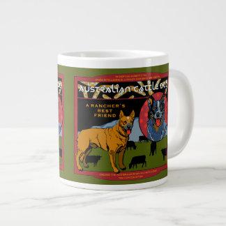 Cão australiano do gado - o melhor amigo de um caneca de café grande