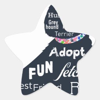 Cão azul adesito estrela