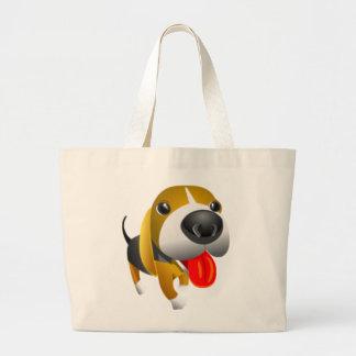 Cão bonito de 3d Basset Hound Bolsa De Lona