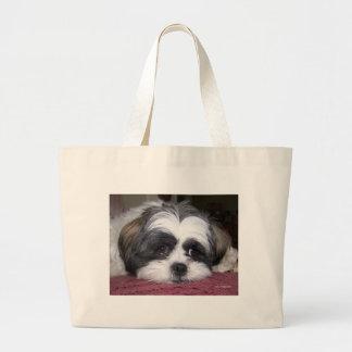 Cão bonito de Shih Tzu Bolsa Tote Grande