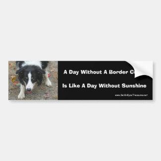Cão bonito do olhar fixo de border collie adesivo para carro