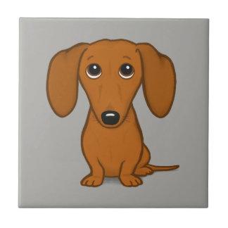Cão bonito do Wiener dos desenhos animados do