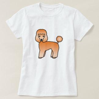 Cão bonito dos desenhos animados da caniche de camiseta