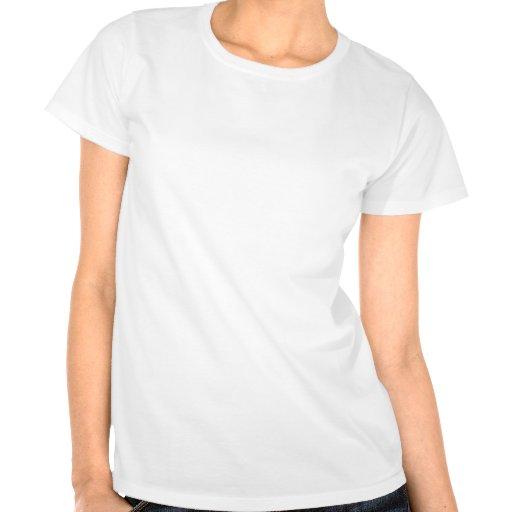Cão bonito preto e branco dos desenhos animados tshirts