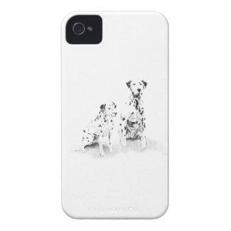 Cão canino Dalmatian da arte que tira a caixa de Capinhas iPhone 4