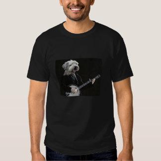 Cão com banjo T~Shirt Tshirt