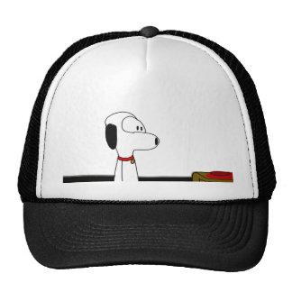 Cão cómico dos desenhos animados boné