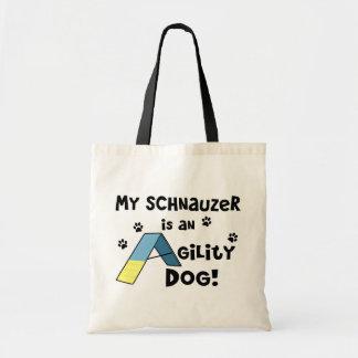 Cão da agilidade do Schnauzer Bolsa Tote