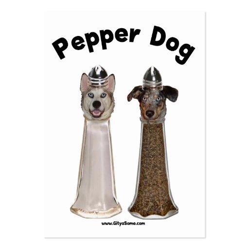 Cão da pimenta e cão salgado modelos cartoes de visitas