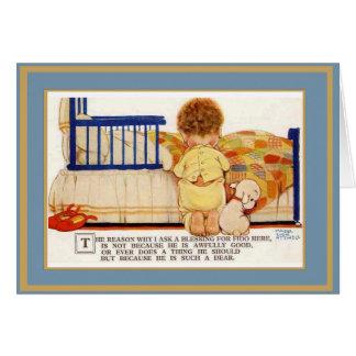 Cão das crianças do cartão do vintage