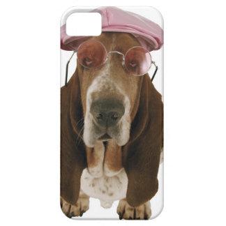 Cão de Basset nos óculos de sol e no boné Capa Para iPhone 5