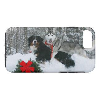 Cão de Bernese Mt e capa de telefone do rouco
