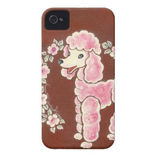Cão de caniche cor-de-rosa feminino bonito capa para iPhone 4 Case-Mate
