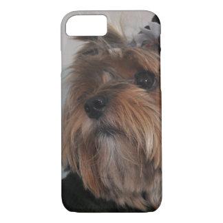 Cão de filhote de cachorro bonito do yorkshire capa iPhone 8/ 7