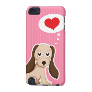 Cão de filhote de cachorro bonito dos desenhos ani capa para iPod touch 5G