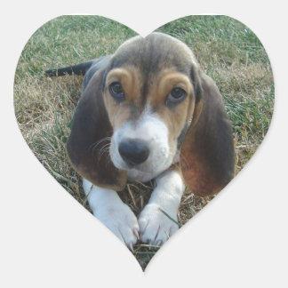 Cão de filhote de cachorro de Artésien Normand do Adesivo Coração