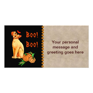 Cão de filhote de cachorro do Dia das Bruxas Cartões Com Fotos Personalizados