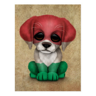 Cão de filhote de cachorro húngaro patriótico cartões postais
