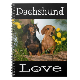 Cão de filhote de cachorro preto de Tan& do amor Caderno Espiral