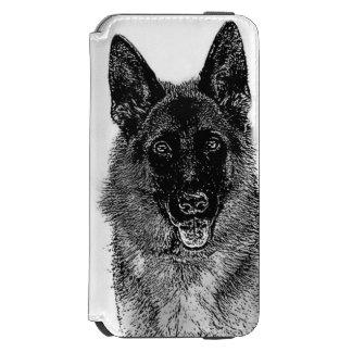 Cão de german shepherd capa carteira incipio watson™ para iPhone 6