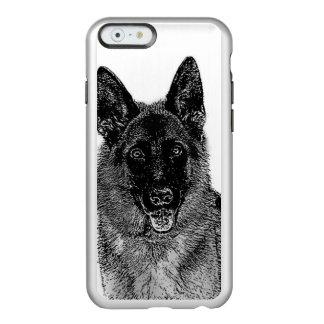 Cão de german shepherd capa incipio feather® shine para iPhone 6