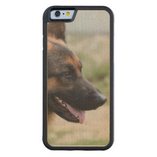 Cão de german shepherd doce capa de carvalho bumper para iPhone 6