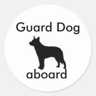 Cão de guarda a bordo adesivo