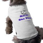 Cão de mar salgado camiseta para cães