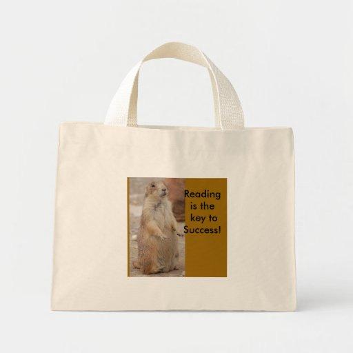Cão de pradaria - saco de livro da leitura bolsas
