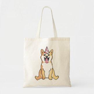 Cão de Shiba Inu que tira a sacola bonito Sacola Tote Budget