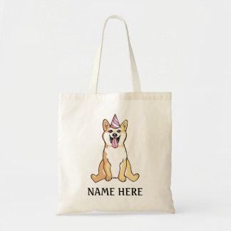 Cão de Shiba Inu que tira o modelo bonito da Bolsa Tote