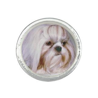 Cão de Shih Tzu Anel Com Imagem