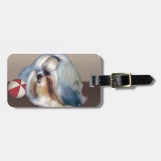 Cão de Shih Tzu customizável Etiquetas De Bagagens