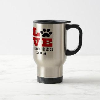 Cão Designes de Bruxelas Griffon do amor Caneca Térmica