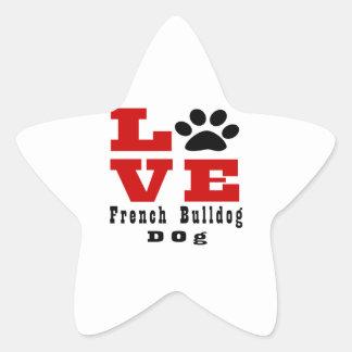 Cão Designes do buldogue francês do amor Adesito Estrela