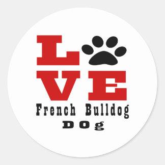 Cão Designes do buldogue francês do amor Adesivo