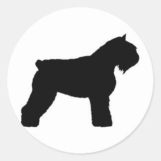 Cão do DES Flandres de Bouvier (no preto) Adesivo