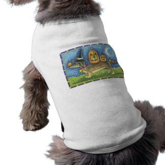 Cão do Dia das Bruxas Camisas Para Cães