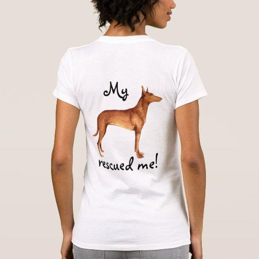 Cão do faraó do salvamento camiseta