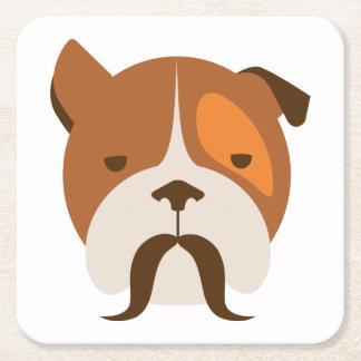 Cão do hipster porta-copo de papel quadrado