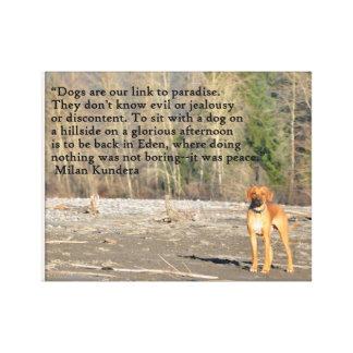 Cão do paraíso impressão em tela