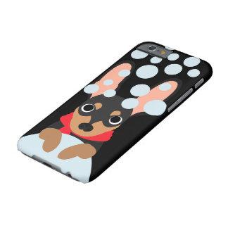 Cão do Pinscher diminuto do Snowball Capa Barely There Para iPhone 6