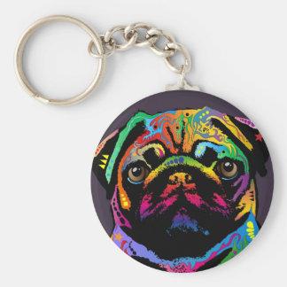 Cão do Pug Chaveiro