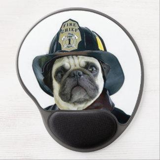 Cão do Pug do bombeiro Mouse Pad De Gel